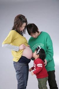 家族でマタニティフォト サンプル写真